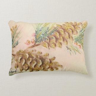 Pastel Pinecones Christmas Glow Cozy Pillow