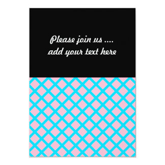 Pastel Pink and Baby Blue Diamonds Pattern Card