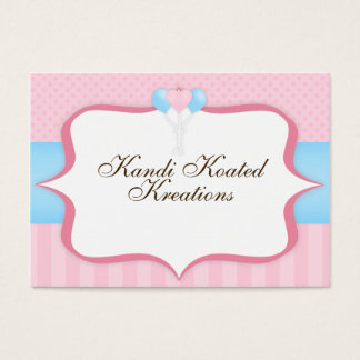Pastel Pink and Blue Balloons Business Card