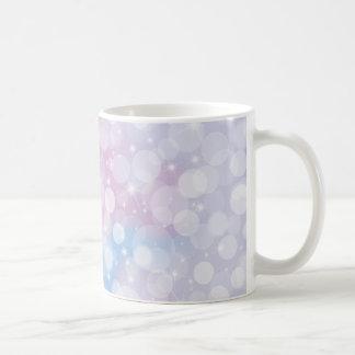 Pastel Pink and Blue Bokeh Coffee Mug