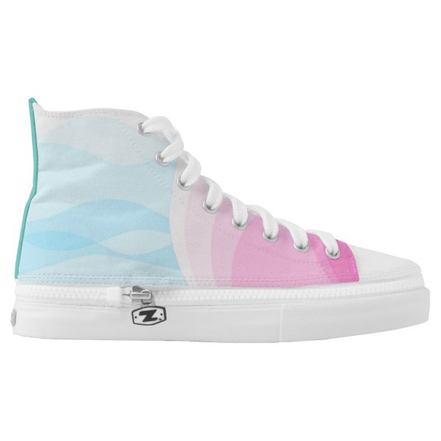 pastel pink and blue high tops printed shoes zazzle