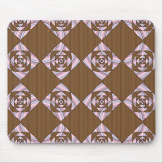 Pastel Pink and Brown. Floral Design. Mousepads