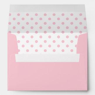 Pastel Pink and White Polka Dots Envelopes