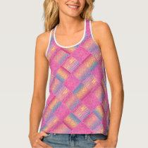 Pastel Pink Animal Pattern Designs Tank Top