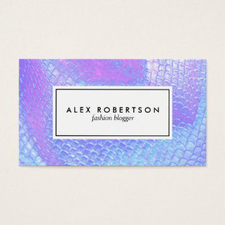 Pastel pink, aqua and lilac mermaid scale fabric business card