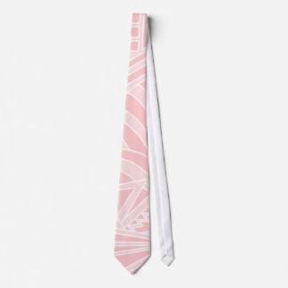 Pastel Pink Art Deco Style Design. Neck Tie