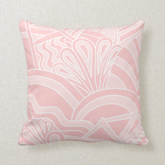 Pastel Pink Art Deco Style Design. Throw Pillow