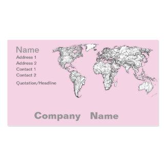 Pastel pink atlas business card template