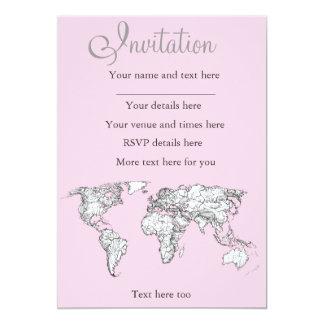 Pastel pink atlas card