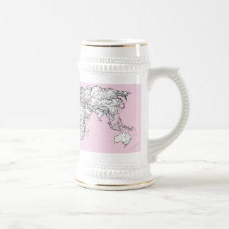 Pastel pink atlas coffee mugs