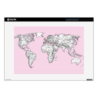 Pastel pink atlas skin for laptop