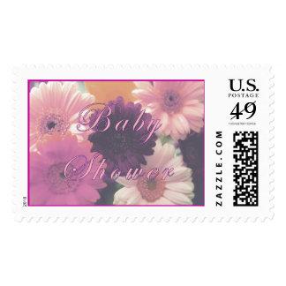Pastel Pink Baby Shower Stamp
