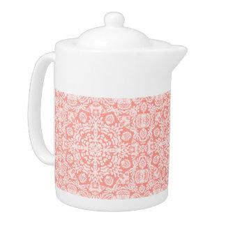 Pastel Pink Baroque Lace Teapot
