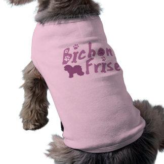 Pastel Pink Bichon Frise Dog T-Shirt