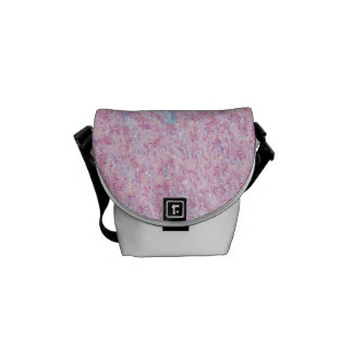 Pastel Pink Blue Purple Scribbles Travel Bags Courier Bag