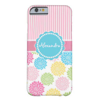 Pastel Pink, blue, Yellow Dahlia flowers name Barely There iPhone 6 Case