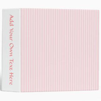 Pastel Pink Candy Stripes. Binder