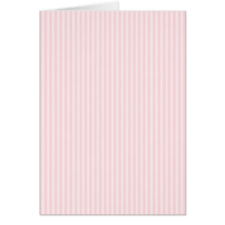 Pastel Pink Candy Stripes. Card