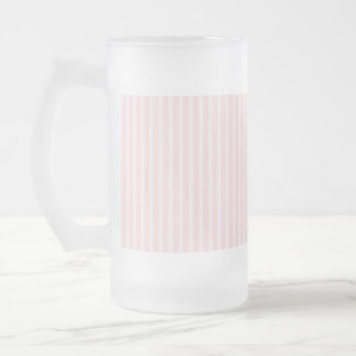 Pastel Pink Candy Stripes. Frosted Glass Beer Mug