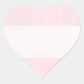Pastel Pink Candy Stripes. Heart Sticker