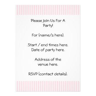 Pastel Pink Candy Stripes Invitation