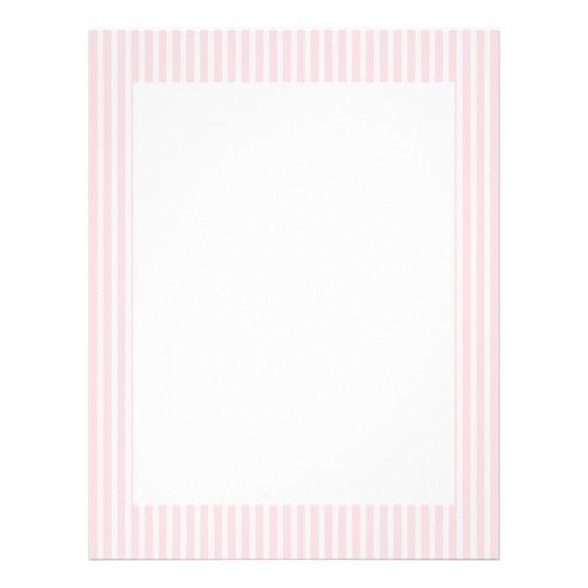 Pastel Pink Candy Stripes. Letterhead