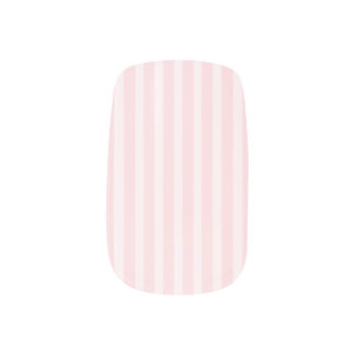 Pastel Pink Candy Stripes. Minx Nail Wraps