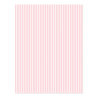 Pastel Pink Candy Stripes. Postcard