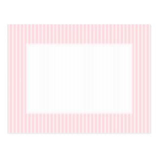 Pastel Pink Candy Stripes. Postcard
