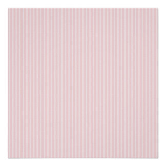 Pastel Pink Candy Stripes. Poster