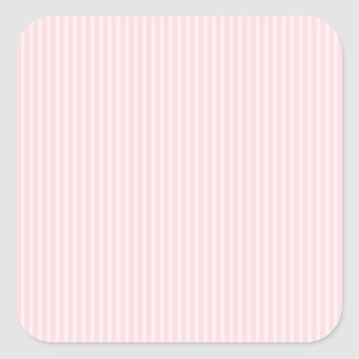 Pastel Pink Candy Stripes. Square Sticker
