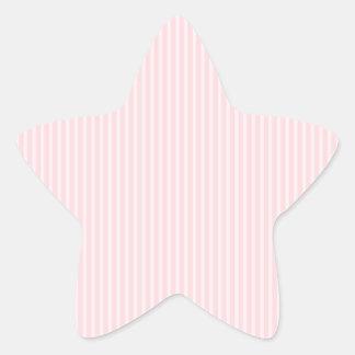 Pastel Pink Candy Stripes. Star Sticker