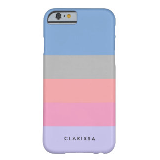 pastel pink coral grey blue purple color block barely there iPhone 6 case