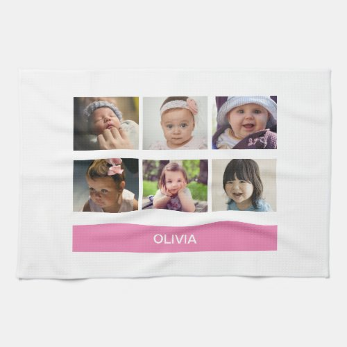 Pastel Pink Custom Photo â Personalized Hand Towel