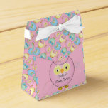 Pastel Pink Cute Owl Baby Girl Shower Theme Favor Box