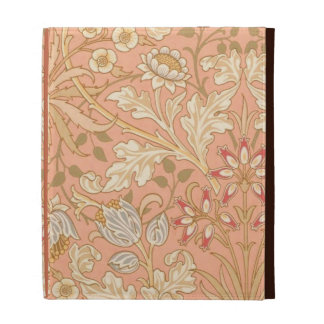 Pastel Pink Decorative Flowers iPad Case