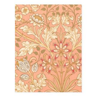 Pastel Pink Decorative Flowers Postcard