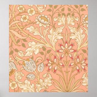 Pastel Pink Decorative Flowers Poster