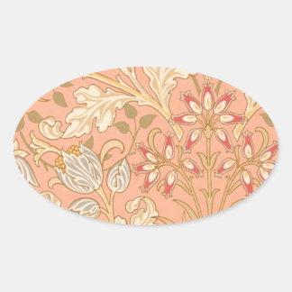 Pastel Pink Decorative Flowers Sticker