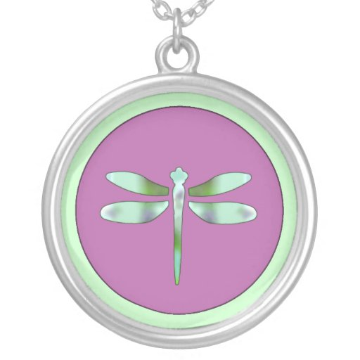 Pastel & Pink Dragonfly Pendant Necklace