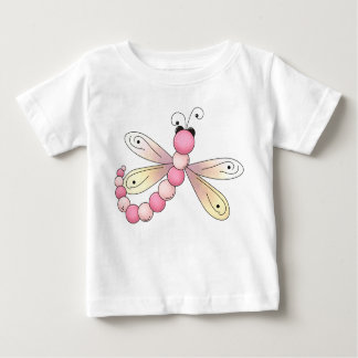 Pastel Pink Dragonfly Storybook Illustration Baby T-Shirt