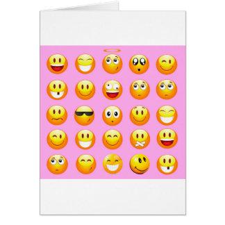 pastel pink emoji card