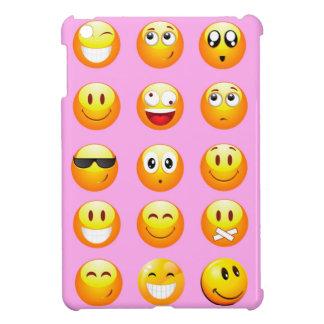 pastel pink emoji iPad mini cases