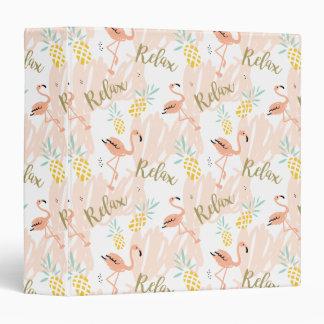 Pastel Pink Flamingo Relax Print Binder