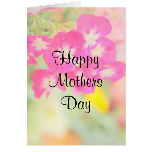 Pastel Pink Floral Mothers Day Card
