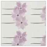 Pastel Pink Floral Watercolor Flowers Pattern Fabric