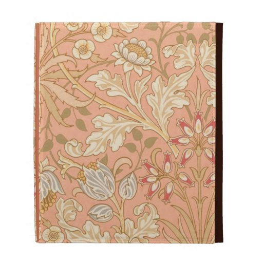 Pastel Pink Flowers iPad Folio Cover