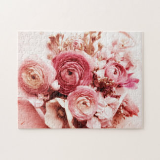Pastel pink flowers jigsaw puzzle