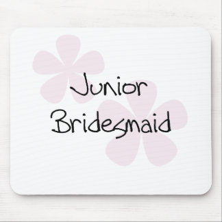 Pastel Pink Flowers Jr. Bridesmaid Mouse Pad