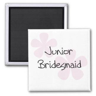 Pastel Pink Flowers Junior Bridesmaid Magnet